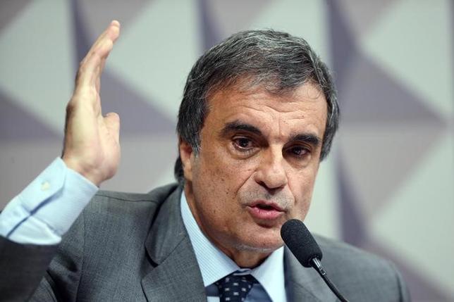 Brazil's General Attorney Jose Eduardo Cardozo gestures as he presents President Dilma Rousseff's defence against impeachment in Brasilia, Brazil, May 5, 2016. REUTERS/Adriano Machado