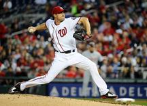 May 11, 2016; Washington, DC, USA; Washington Nationals starting pitcher Max Scherzer (31) throws against the Detroit Tigers during the fourth inning at Nationals Park. Mandatory Credit: Brad Mills-USA TODAY Sports