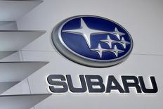 The Subaru logo is seen during the 2016 New York International Auto Show media preview in Manhattan, New York March 23, 2016. REUTERS/Brendan McDermid/File Photo