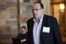 """El presidente del Banco Central de Perú, Julio Velarde, durante un simposio económico en Jackson Hole, Wyoming. 28 de agosto de 2015. La inflación anualizada a mayo en Perú se desacelerará """"sustancialmente"""", dijo el martes el presidente del Banco Central, Julio Velarde, y estimó que el año podría terminar con un aumento de los precios al consumidor de 2,9 o 3,0 por ciento, muy por debajo del registrado el año pasado. REUTERS/Jonathan Crosby"""