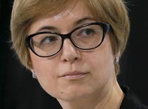 Первый зампред ЦБР Ксения Юдаева на Гайдаровском форуме в Москве. 13 января 2016 года. Банк России никогда не отказывался от возможности интервенций в случае рисков финансовой стабильности, сказала первый зампред ЦБР Ксения Юдаева на конференции Credit Suisse в среду. REUTERS/Maxim Shemetov