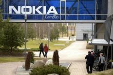 La sede de Nokia en Espoo, Finlandia. 6 de abril de 2016. El nombre Nokia volverá al mercado de telefonía móvil tras vender los derechos de la marca a la también finlandesa HMD Global y la multinacional taiwanesa Foxconn. REUTERS/Antti Aimo-Koivisto/Lehtikuva/File Photo