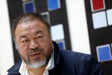 Chinese artist Ai Weiwei speaks to the media during a news conference ahead of an exhibition 'Chinese Whispers' at the Center Paul Klee in Bern, Switzerland April 27, 2016. REUTERS/Ruben Sprich