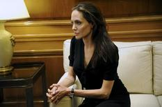 United Nations High Commissioner for Refugees (UNHCR) Special Envoy Angelina Jolie looks on as she meets Greek Prime Minister Alexis Tsipras at the Maximos Mansion in Athens, Greece, March 16, 2016. REUTERS/Michalis Karagiannis