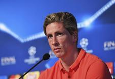 Atacante Fernando Torres durante entrevista coletiva em Milão.   17/05/2016    Reuters / Pool Pic / UEFA Livepic