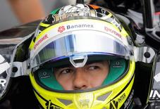Formula One - Russian Grand Prix - Sochi, Russia - 30/4/16 - Force India F1 driver Sergio Perez of Mexico sits in his car during the third practice session. REUTERS/Maxim Shemetov