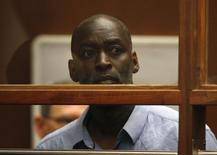 Ator Michael Jace durante audiência em tribunal em Los Angeles. 22/05/2014 REUTERS/David McNew/Pool