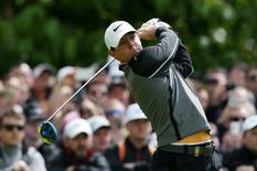 Northern Ireland's Rory McIlroy plays his tee shot at the 5th hole Action Images via Reuters / Paul Childs Livepic