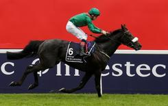 Britain Horse Racing - Investec Derby Festival - Epsom Racecourse - 4/6/16 Harzand ridden by Pat Smullen wins the 4.30 Investec Derby Action Images via Reuters / Henry Browne Livepic