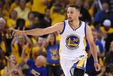 Stephen Curry em jogo contra o Cleveland Cavaliers. 5/6/2016.  Kyle Terada-USA TODAY Sports