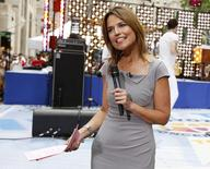 "Savannah Guthrie durante gravação do programa ""Today"", da rede NBC, em Nova York.     29/06/2012       REUTERS/Brendan McDermid/File Photo"