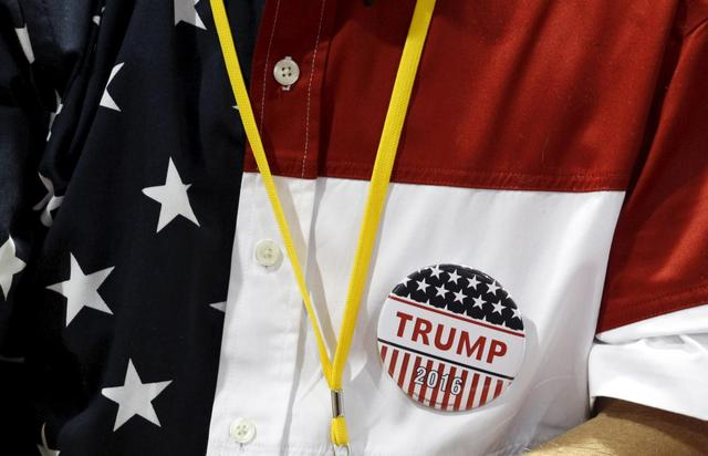 A supporter of Donald Trump at a rally in Norcross, Georgia. REUTERS/Tami Chappell