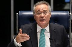 Presidente do Senado, Renan Calheiros, durante sessão da Casa em Brasília. 07/06/2016 REUTERS/Adriano Machado