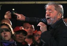 Lula faz discurso na Avenida Paulista.  10/6/2016.  REUTERS/Paulo Whitaker