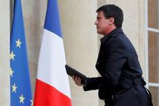 Primeiro-ministro da França, Manuel Valls, antes de encontro emergencial em Paris.    14/06/2016       REUTERS/Philippe Wojazer