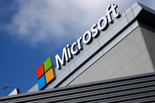 A Microsoft logo is seen in Los Angeles, California, U.S. June 14, 2016. REUTERS/Lucy Nicholson