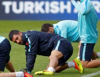 Turkey's Arda Turan during training. REUTERS/Christian Hartmann