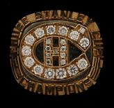 A Stanley Cup Championship ring once belonging to James 'Whitey' Bulger and being offered for auction is seen in an undated picture released by the U.S. Marshals Service.  U.S. Marshals Service/Handout via Reuters