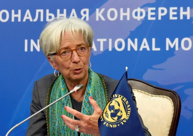 International Monetary Fund (IMF) Managing Director Christine Lagarde attends a news conference in Astana, Kazakhstan, May 24, 2016. REUTERS/Mariya Gordeyeva