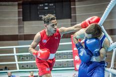 Robeisy Ramirez of Cuba in action against Arslan Khataev of Finland.  Karim de la Plaine/AIBA/Handout via REUTERS