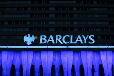 The logo of Barclays is seen on the top of one of its branch in Madrid, Spain in this March 22, 2016 file photo. REUTERS/Sergio Perez/Files