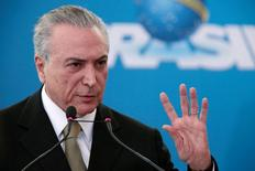 Presidente interino Michel Temer durante evento no Palácio do Planalto, Brasília.    01/06/2016      REUTERS/Ueslei Marcelino
