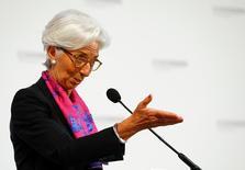 La directora gerente del Fondo Monetario Internacional Christine Lagarde durante un discurso en Viena, Austria, el 17 de junio de 2016. La directora gerente del Fondo Monetario International, Christine Lagarde, instó el viernes a las autoridades británicas y europeas a trabajar en una transición sin sobresaltos para implementar la decisión de Reino Unido de abandonar la Unión Europea. REUTERS/Leonhard Foeger