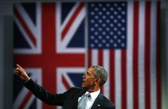 Barrack Obama durante evento em Londres.  23/4/2016. REUTERS/Stefan Wermuth