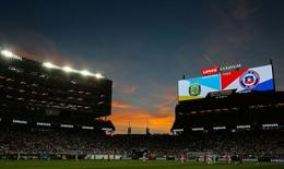 Jun 6, 2016; Santa Clara, CA, USA; Sunset at halftime of the game between Argentina and Chile during the group play stage of the 2016 Copa America Centenario at Levi's Stadium. Argentina defeated Chile 2-1. Mandatory Credit: Kelley L Cox-USA TODAY Sports