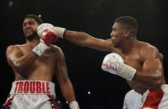 Britain Boxing - Anthony Joshua v Dominic Breazeale IBF World Heavyweight Title - The O2 Arena, London - 25/6/16 Anthony Joshua in action against Dominic Breazeale Action Images via Reuters / Andrew Couldridge Livepic