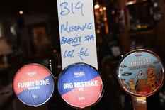 A bar in Dublin has specially made a Brexit beer for the results of the British EU Referendum called 'Big Mistake' in Ireland, June 26, 2016. REUTERS/Clodagh Kilcoyne