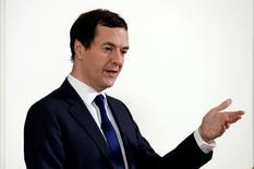 Ministro das Finanças britânico, George Osborne, durante evento em Londres.    27/06/2016     REUTERS/Stefan Rousseau/Pool