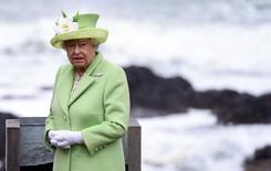 Britain's Queen Elizabeth arrives for a visit to the Giant's Causeway in Northern Ireland, June 28, 2016. REUTERS/Clodagh Kilcoyne
