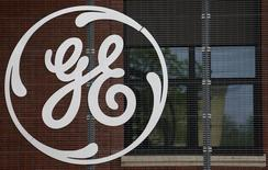 The logo of U.S. conglomerate General Electric is pictured at the company's site in Belfort, in this April 27, 2014 file photo. REUTERS/Vincent Kessler