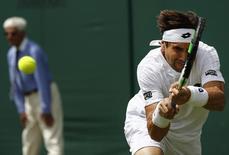 Britain Tennis - Wimbledon - All England Lawn Tennis & Croquet Club, Wimbledon, England - 27/6/16 Spain's David Ferrer in action against Uzbekistan's Denis Istomin REUTERS/Stefan Wermuth