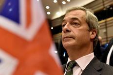 Líder do Partido de Independência do Reino Unido (Ukip), Nigel Farage, no Parlamento Europeu, em Bruxelas. 28/06/2016 REUTERS/Eric Vidal