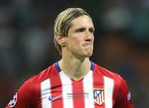 Atacante Fernando Torres durante partida do Atlético de Madri.   28/05/2016 Action Images via Reuters / Carl Recine Livepic/Files