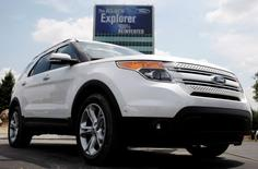 Ford Motor Co unveils the 2011 Ford Explorer outside the Ford Motor World Headquarters in Dearborn, Michigan in this July 26, 2010 file photo. REUTERS/Rebecca Cook