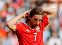 Joe Allen durante partida contra Irlanda do Norte na Euro 2016.     REUTERS/Stephane Mahe