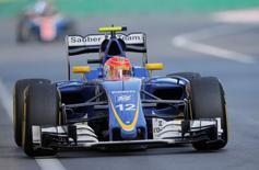Formula One - Grand Prix of Europe - Baku, Azerbaijan - 19/6/16 - Sauber Formula One driver Felipe Nasr of Brazil drives during the race.   REUTERS/Maxim Shemetov