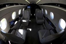 The cabin of an Embraer Legacy 450 jet is seen in Sao Paulo, Brazil, August 7, 2015. REUTERS/Paulo Whitaker