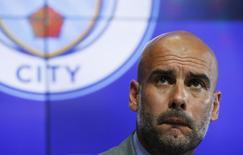 Técnico do Manchester City, Pep Guardiola, durante entrevista coletiva  08/07/2016 REUTERS/ Phil Noble