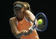 Tenista russa Maria Sharapova durante partida do Aberto da Austrália. 26/01/2016 REUTERS/Issei Kato