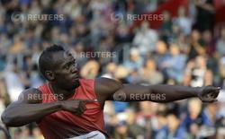Usain Bolt, da Jamaica, após a corrida masculina de 100 metros em Ostrava, na República Tcheca 20/05/2016 REUTERS/David W Cerny
