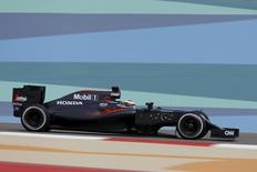 Formula One - Bahrain Grand Prix - Sakhir, Bahrain - 01/04/16 - McLaren F1 driver Stoffel Vandoorne of Belgium drives during the first practice. REUTERS/Hamad I Mohammed.