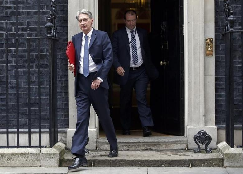 Britain's Foreign Secretary Philip Hammond, leaves after a cabinet meeting in Downing Street in central London, Britain June 27, 2016.    REUTERS/Peter Nicholls