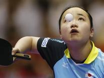 Table Tennis - 2016 World Table Tennis Championships - Women's Finals - Kuala Lumpur, Malaysia - 6/3/16 - Mima Ito of Japan competes. REUTERS/Olivia Harris