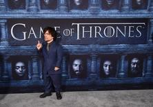 "Cast member Peter Dinklage attends the premiere for the sixth season of HBO's ""Game of Thrones"" in Los Angeles April 10, 2016. REUTERS/Phil McCarten"