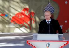 Presidente da Rússia, Vladimir Putin, durante evento em Moscou da Copa do Mundo de 2018.     01/06/2016         REUTERS/Maxim Shemetov