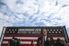 "Campanha de marketing de ""House of Cards"" em Greenville,  Carolina do Sul  12/2/2016  REUTERS/Carlo Allegri"